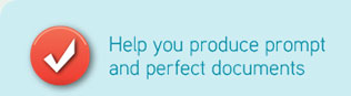 help you produce and perfect documents